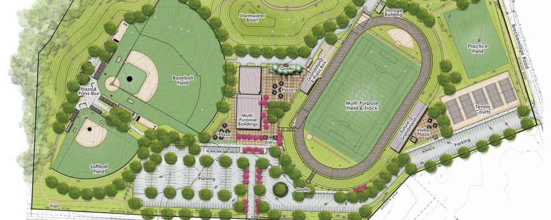 BBHS Athletic Complex Plan Rendering
