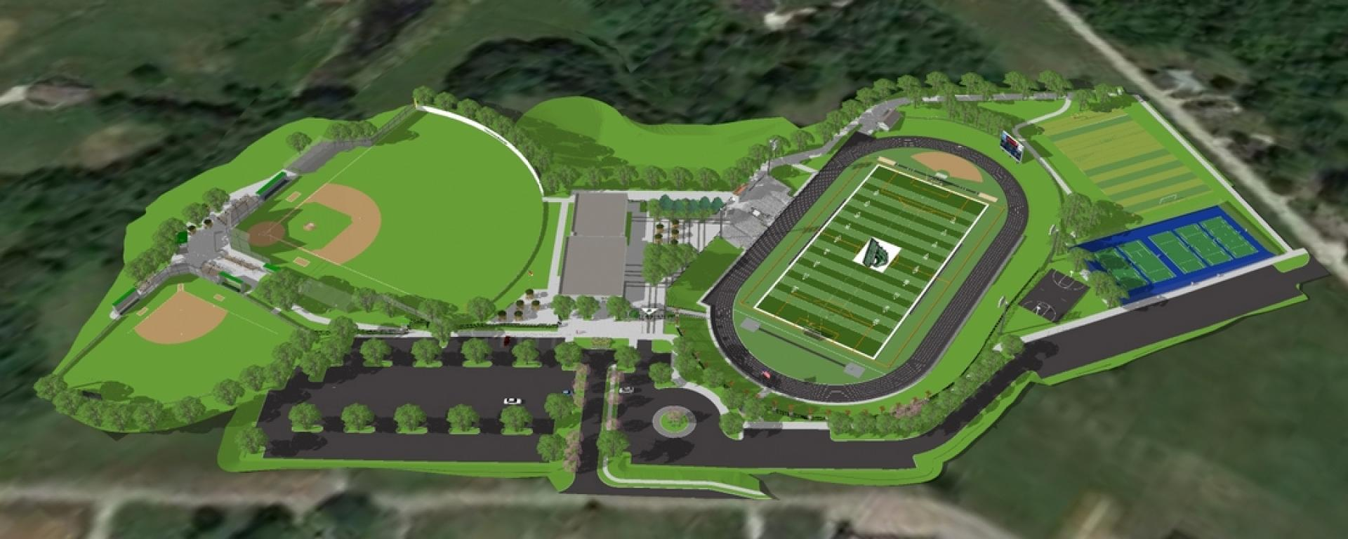 3D model of BBHS Athletic Complex Plan