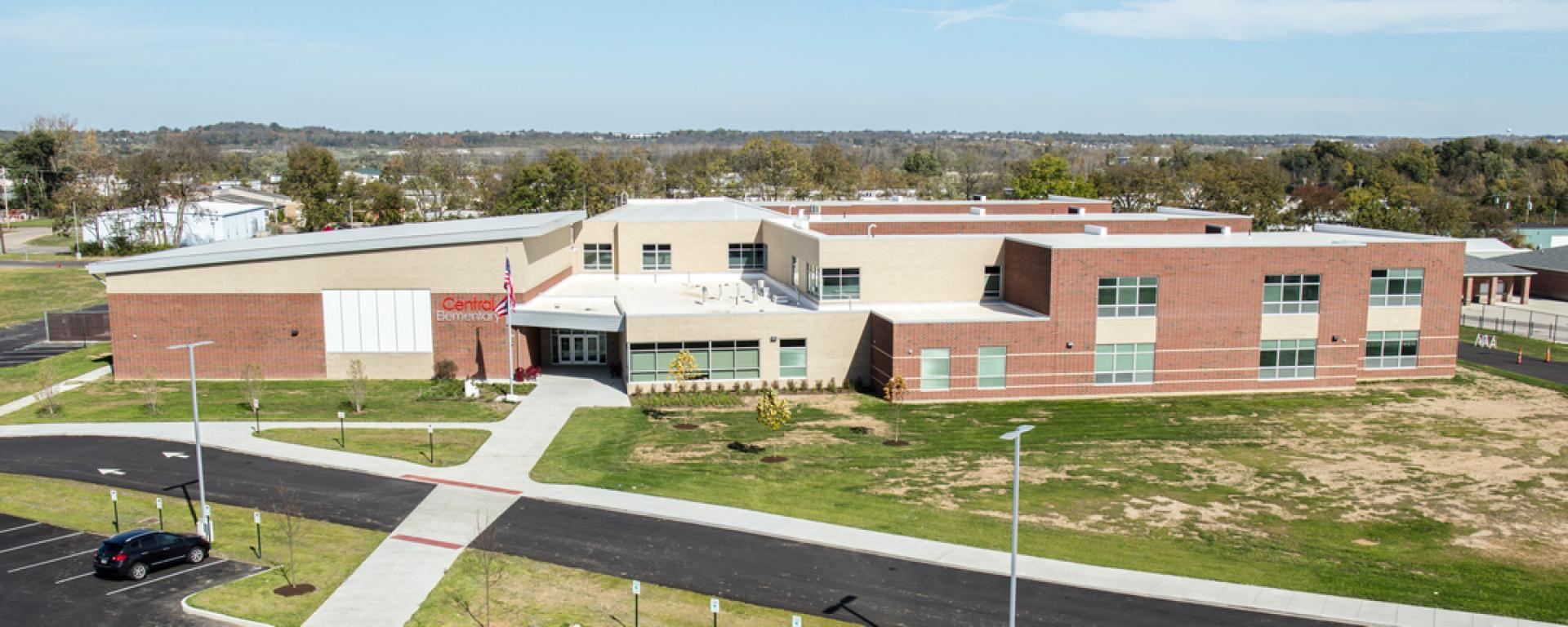 Aerial view of Fairfield Central Elementary School