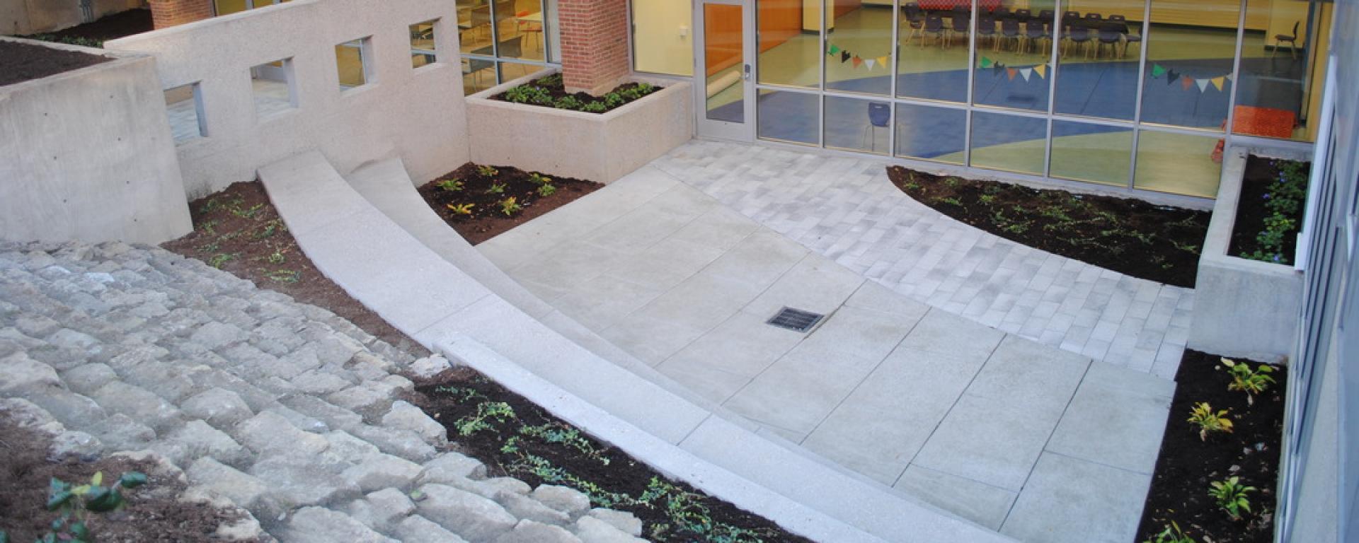 Courtyard inside Kenton County Public Library