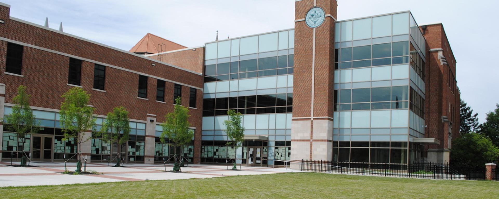Side view of Covington Latin School