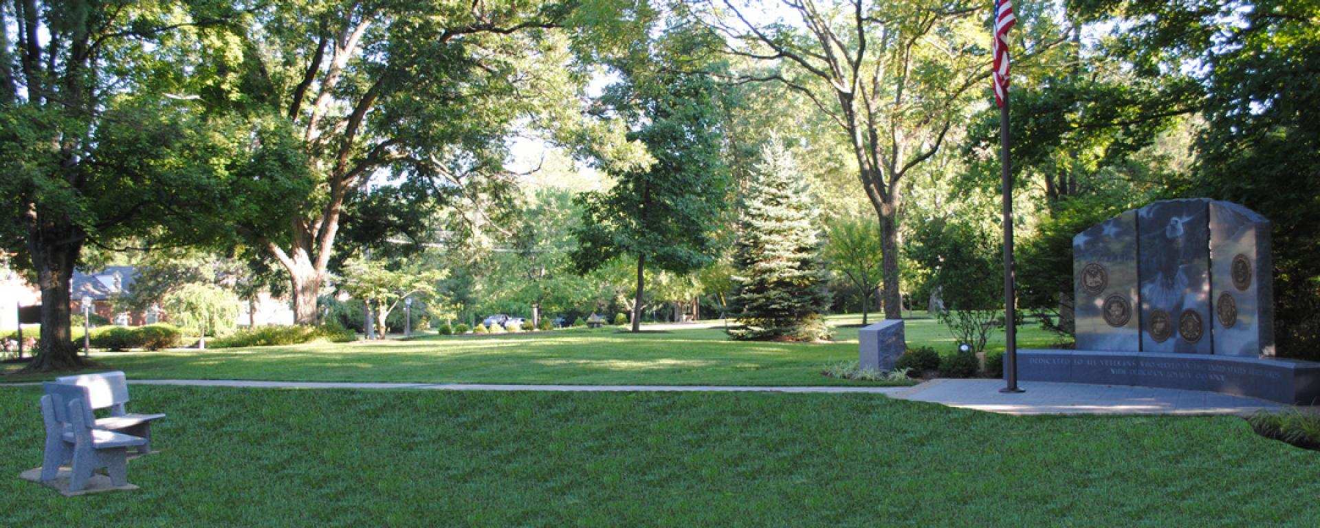 Yard view of Indian Hill Veteran's Memorial