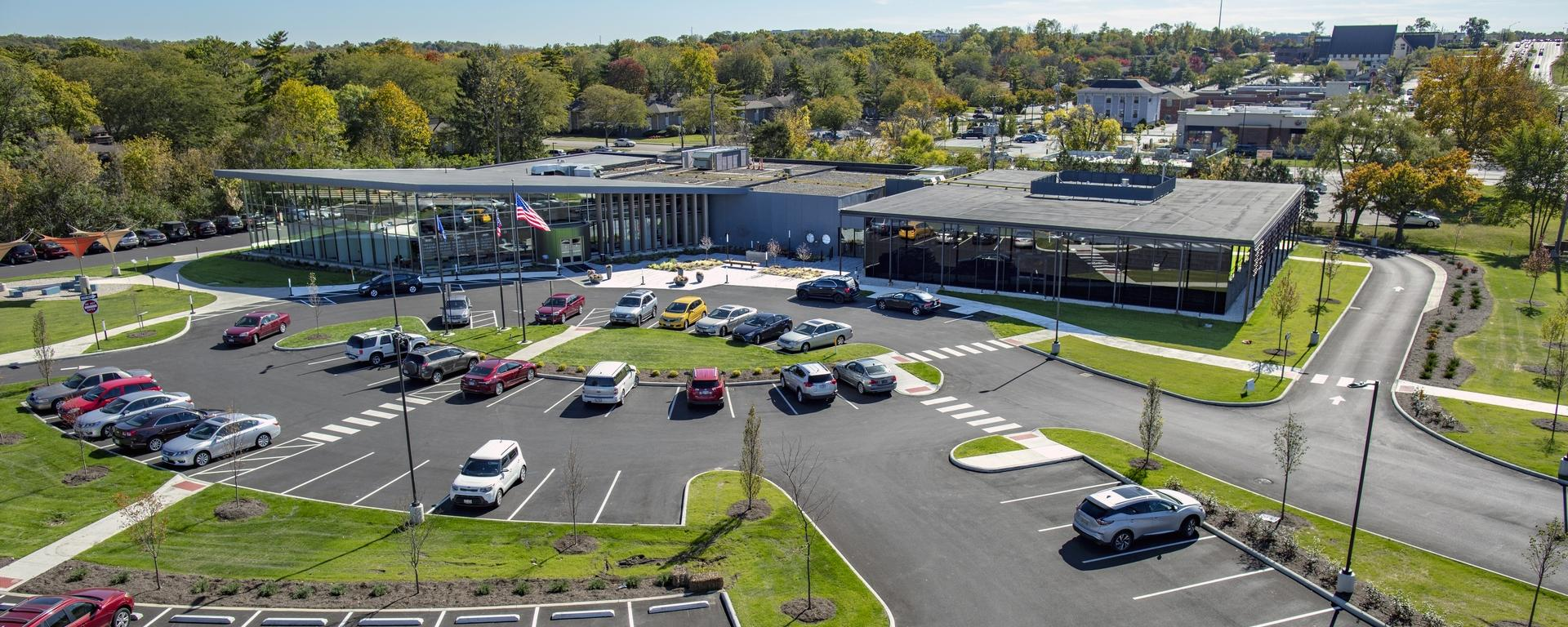 Aerial view of Woodbourne Library