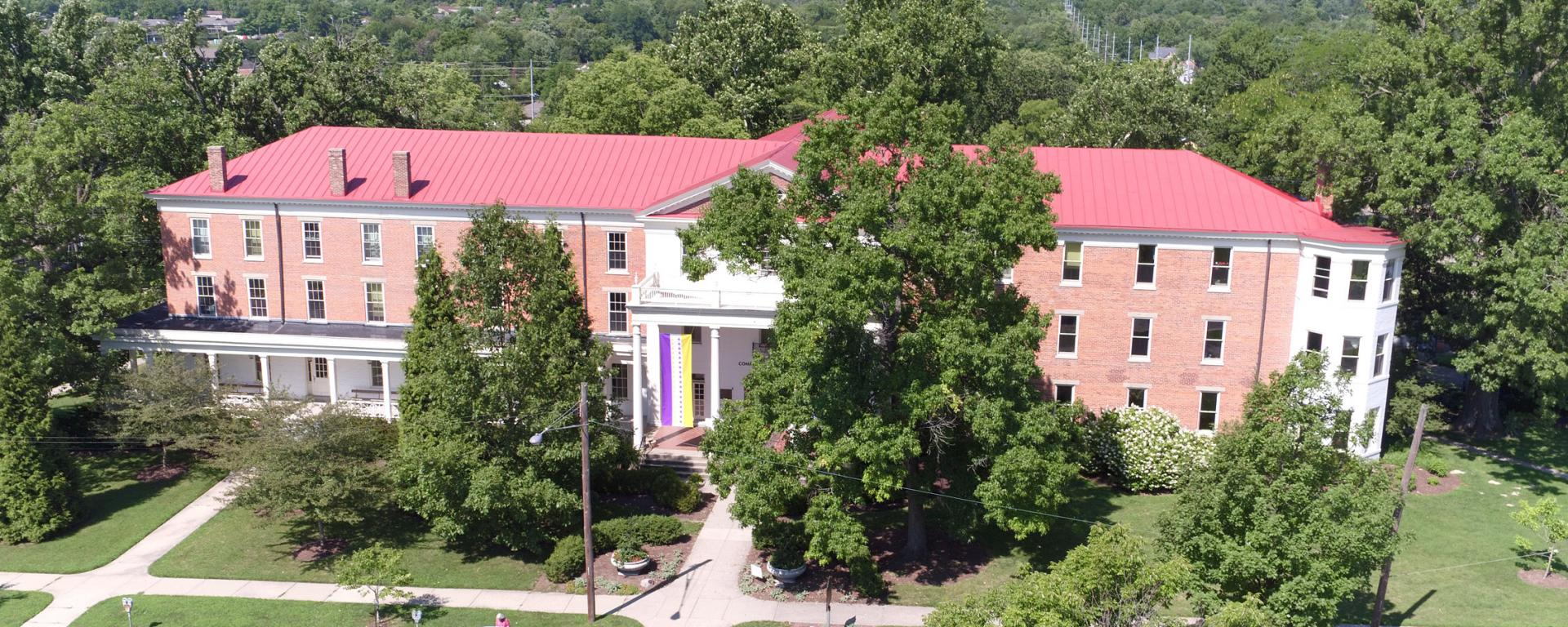 aerial photo of building