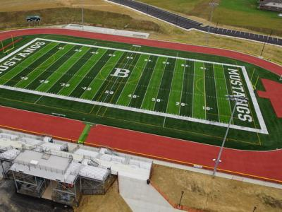 Aerial shot of BBHS Athletic Football Field