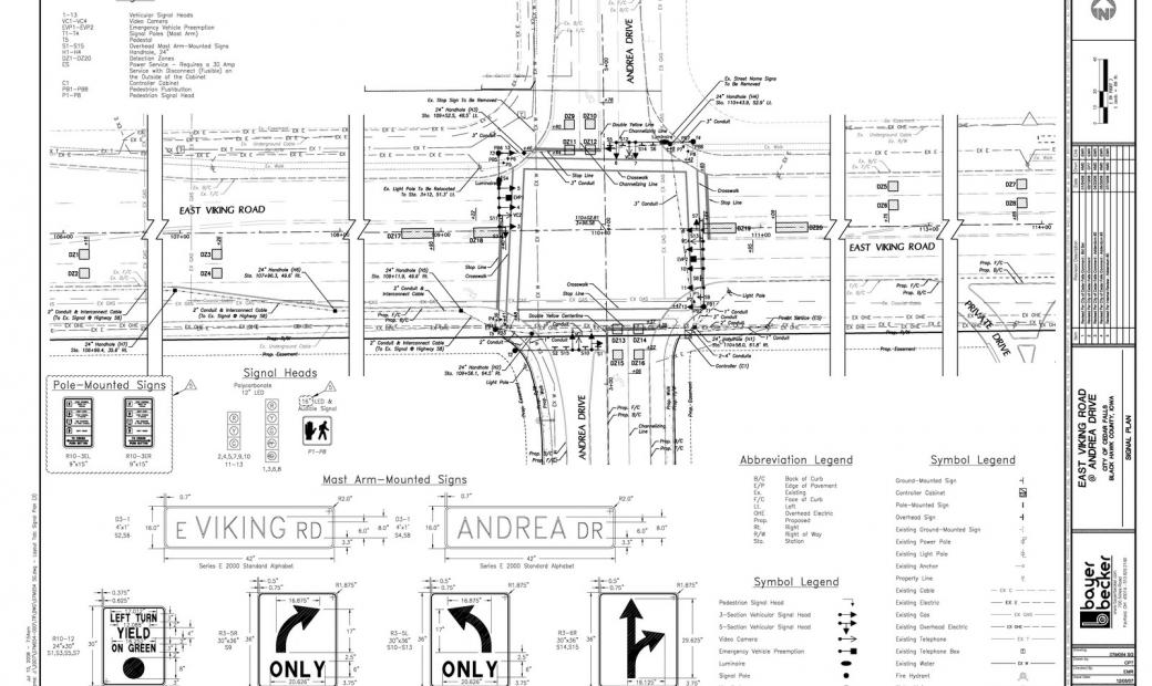 East viking plaza traffic improvement study signal design bayer becker civil engineers for Transportation engineering planning and design